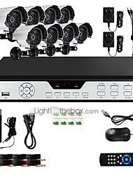 zmodo® 8 outdoor de vídeo doméstico sistema de segurança vigilância CCTV IR 600TVL
