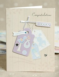 Ivory Side Fold Greeting Card for Baby Shower