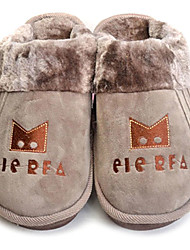 Slide Cartoon Crown hombres del café de lana Slipper