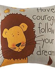 """18 """"Loved Lion Muster Baumwolle Bettwäsche Dekorative Kissenbezug"""