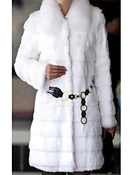 Long Sleeve Pillow Rabbit Fur Party/Casual Coat(More Colors)