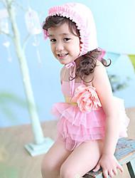 Девушки Прекрасный цветка шнурка Купальники