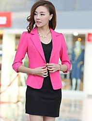 Women's Taibr Collar Solid Color  ¾ Sleeve Leisure Suit Blazer