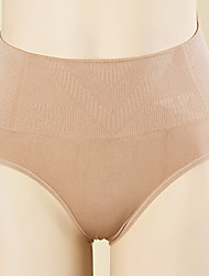 Chinlon Middle Waist Shaping Brief Panties(More Colors)