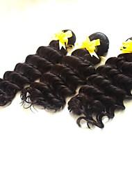 14 Inch 3pcs/lot Grade 5A Brazilian Virgin Hair Deep Wave Hair Extensions/Weaves