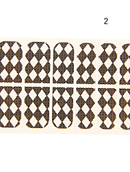 12PCS place Piece Forme Black Lace Nail Art Stickers N ° 2