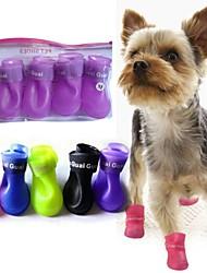bonitos sapatos de chuva pet botas de proteção para animais de estimação cães
