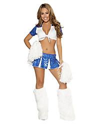 Shining Girl Blue & White Polyester 2014 Brazil World Cup Football Baby Cheerleader Uniform