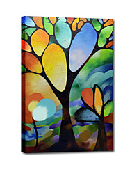 Hand Painted Oil Painting Landscape Abstract Simple Tree with Stretched Frame