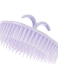 Purple Rounded Shampoo Comb