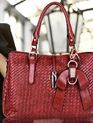 Очаровательная Weave Офис / Магазины плеча сумочку Лук украшения больше цветов