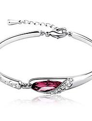 Bracelete imitação de diamante Original Moda Estilo simples Jóias Branco Roxo Vermelho Azul Jóias 1peça