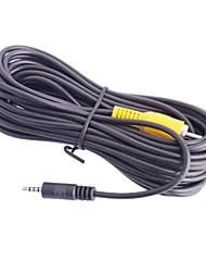 2,5 milímetros Macho para RCA macho cabo de conexão para GPS do carro - preto (6m)
