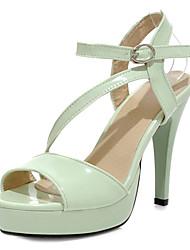 Leatherette Women's Stiletto Heel Platform Sandals Shoes(More Colors)