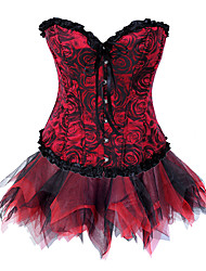 Vampiro sangriento rosa brocado rojo corsé gótico lolita