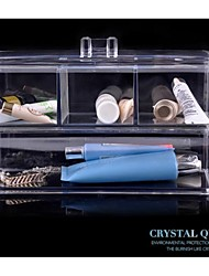 Fashion European Transparent Female Makeups Storage Boxes Crystal Jewelry Organizer Gifts/Present
