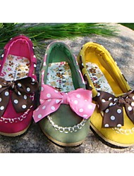 Children's Sweet Lace Bow Tendon Late Shoes
