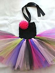 Girl's Flower Wedding Party Tutu Dress