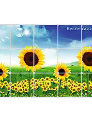 Floral Aluminium Foil maman étanche résistant à haute température Stickers muraux
