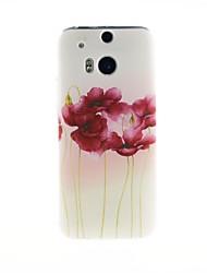 Para Funda HTC Diseños Funda Cubierta Trasera Funda Flor Suave TPU HTC