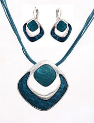 Contraste ETO métal Collier Boucles d'oreilles Couleur Suit