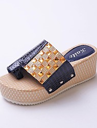 Leatherette Women's Wedge Heel Wedges Sandals Shoes (More Colors)