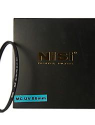 НИСИ 86mm MC UV Ультрафиолетовый Ультратонкий двусторонняя Многослойное покрытие линз Фильтр протектор для Nikon Canon камер Sony