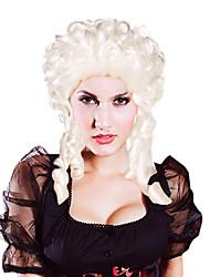 Fantasia Bola sintética peruca festa Barroco Peruca (Silver)