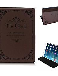 Cas élégant motif en cuir PU Full Body Design Style Classique avec support pour iPad Air