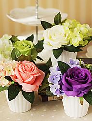 """4.75 """"h rose bloemstuk (groen)"""