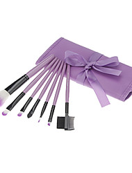 7Pcs Cosmetic Brush Suit-Purple