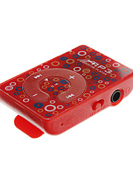 Tf lector de tarjetas Mini Flower Portable Patrón Digital MP3 Player con Clip