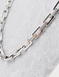 titânio de aço prateado colar de corrente grossa homens da moda