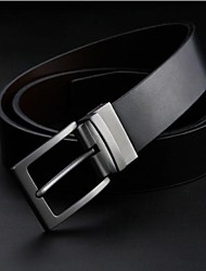 Men's Luxurious Genuine Leather Smooth Buckle Belt