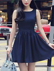 vestido sin espalda sleevless elegante verano de las mujeres Meiqian