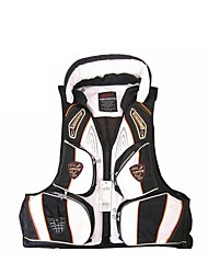 Swimming Aid Life Saving Inflatable Vest Jacket - Black + White (Free Size)