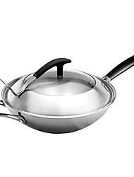 """asd ® 12.5 """"wok en acier, W32cm xl32cm xh10cm"""