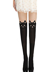 Women's Cat Pattern Pantyhose