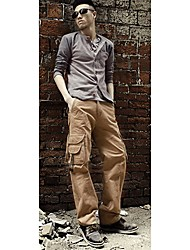 Moda Masculina de Multi Pockets Chinos