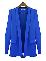 Women's Black/Blue/White/Yellow Blazer , Casual Long Sleeve