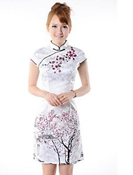 Mulheres Colla A ameixa cultivar a moralidade do vestido chinês