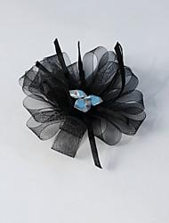 Women's/Flower Girl's Rhinestone/Tulle Headpiece - Wedding/Special Occasion Flowers