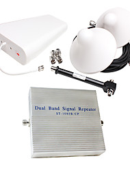 CDMA850 1900mhz Dual band signal repeater amplifier coverage 1000m2
