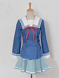 Inspired by Beyond the Boundary Mitsuki Nase Anime Cosplay Costumes Cosplay Suits Patchwork Blue Top / Skirt / Bow