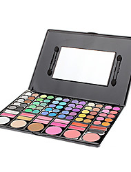 Make-up For You® 78 Color Eye Shadow Shimmer/Dry/Mineral Eyeshadow Palette Powder Professional Fairy makeup/Party makeup/Halloween  Makeup Palettes