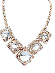 Anan Europe And The United States Street Snap Big-Name Costly Necklace(White)