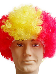 Black Afro Wig Fans Bulkness Cosplay Christmas Halloween Wig Spanish flag Wig 1pc/lot