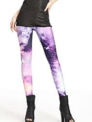 ElonboDan Zi Milky Way Style Digital Painting Tight Women Leggings