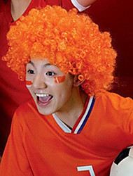 Black Afro Wig Fans Bulkness Cosplay Christmas Halloween Wig Orange Wig 1pc/lot