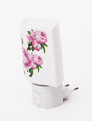 Fleur rose Motif Mode 2 LED Night Light (110V-240V)